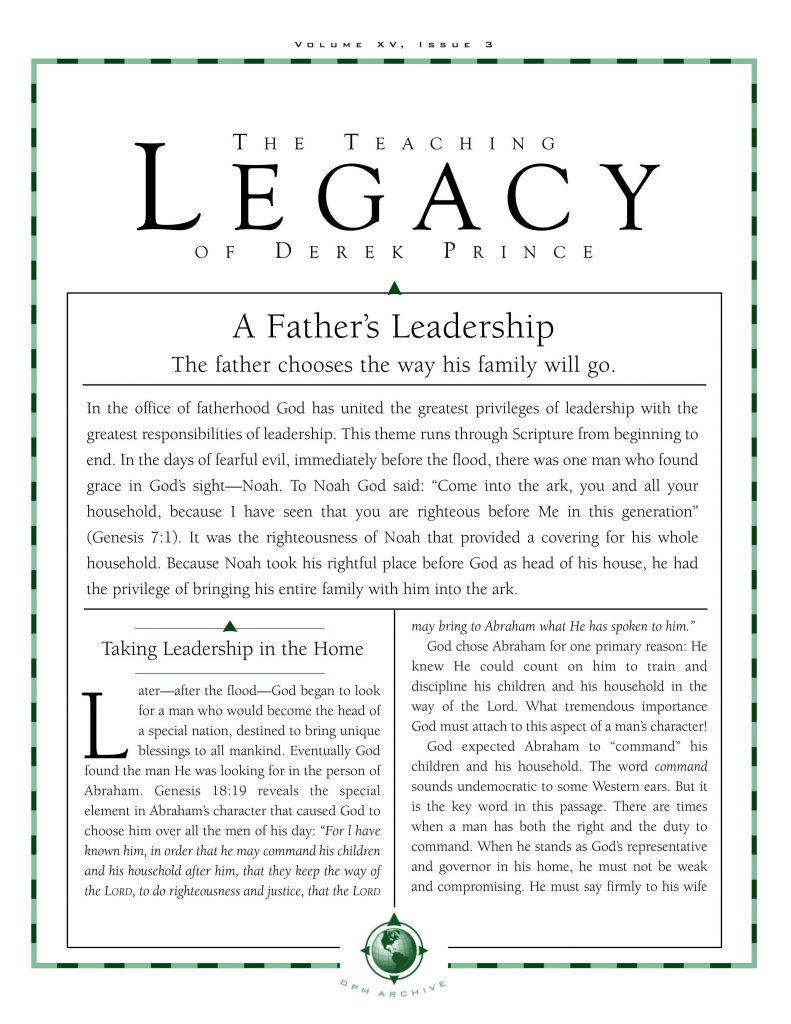 A Father's leadership