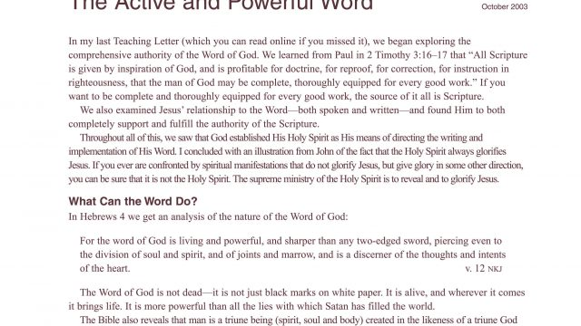 The Active & Powerful Word front
